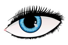 Free Woman Eye Of Blue Color Stock Image - 27669001