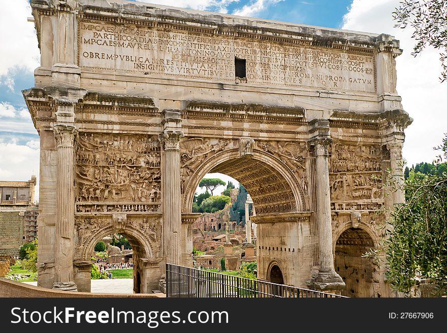 Arch of Emperor Septimius Severus in Rome