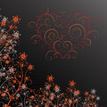Free Dark Grunge Flower With Heart Stock Photography - 27671662