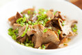 Free Fried Chanterelles With Green Onions Stock Photography - 27675882