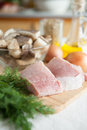 Free Two Pieces Of Raw Meat On The Board Royalty Free Stock Photography - 27675957
