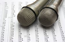 Free Two Microphone Stock Photo - 27670910