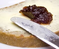 Free Bread With Butter And Jam Stock Images - 27670954