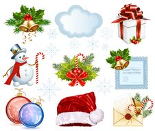 Free Collection Of Christmas Objects Stock Photo - 27671900