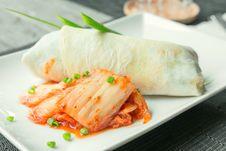 Free Beef Burito With Kimchi Royalty Free Stock Photo - 27672145