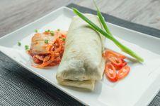 Free Beef Burito With Kimchi Stock Photo - 27672180