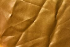 Free Texture Of Golden Cloth With Folds. Royalty Free Stock Images - 27672279