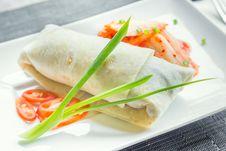 Free Beef Burito With Kimchi Stock Image - 27672471