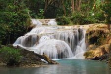 Free Erawan Waterfall Near Kanchanaburi, Thailand Stock Image - 27674411