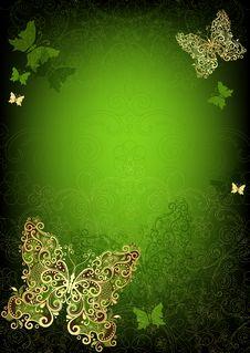 Free Green Vintage Frame Stock Photo - 27677650