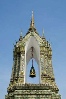 Free Thai Style Belfry Royalty Free Stock Photography - 27679387