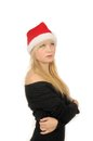 Free Portrait Of Santa Woman Over White Background Royalty Free Stock Images - 27680419