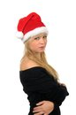 Free Portrait Of Santa Woman Over White Background Stock Photography - 27680432