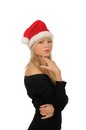 Free Portrait Of Santa Woman Over White Background Royalty Free Stock Photo - 27680445