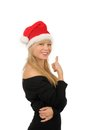 Free Portrait Of Santa Woman Over White Background Royalty Free Stock Image - 27680486