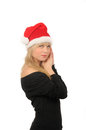 Free Portrait Of Santa Woman Over White Background Royalty Free Stock Images - 27680499
