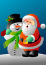 Free Santa And Frosty Stock Image - 27689791