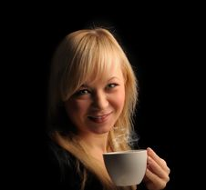 Free Young  Woman With Coffee Stock Photos - 27680093