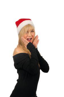 Free Portrait Of Santa Woman Over White Background Stock Photos - 27680383