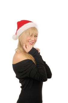 Free Portrait Of Santa Woman Over White Background Stock Photography - 27680402