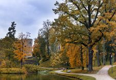 Free Old Autumnal Park,Cesis, Latvia Stock Photos - 27680863