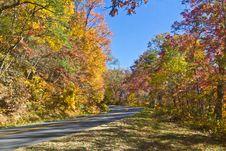 Free Colorful Autumn Drive Stock Photo - 27681820