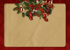 Free Vintage Christmas Greeting Background Stock Photography - 27682222