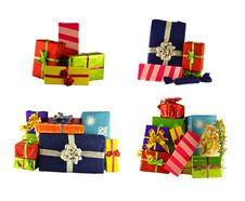 Set Of Gift Boxes 2 Stock Photography
