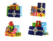 Set Of Gift Boxes Stock Images