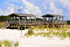 Beach Pavilions Royalty Free Stock Photography