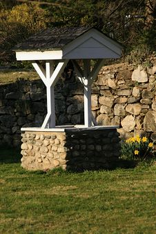 Wishing Well In Spring Royalty Free Stock Image