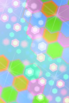 Abstract Background From Hexagons Stock Photo
