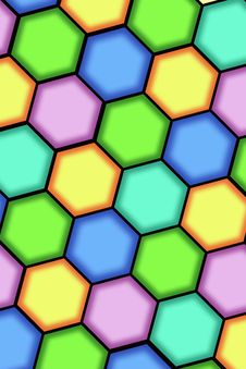 Abstract Background From Hexagons Stock Photos