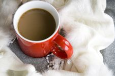 Free On Top Of Coffee Cup Royalty Free Stock Images - 27688709