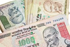 Free Indian Currency Royalty Free Stock Photo - 27688915