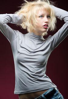 Hot Blonde Royalty Free Stock Photos