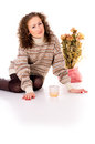 Free Girl In Winter Sweater Resting Royalty Free Stock Photos - 27690278