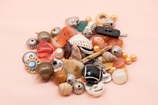 Free Buttons And Costume Jewellery Royalty Free Stock Images - 27690469