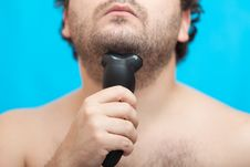 Free The Man Shaves A Chin Stock Images - 27691054