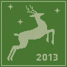 Free Traditional  Christmas Embroidery Pattern Royalty Free Stock Images - 27694599