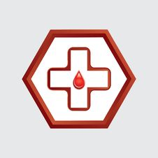 Free First Aid Medical Button . Royalty Free Stock Photography - 27695227