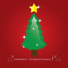 Free Christmas Tree Applique Vector Background. Stock Image - 27695361