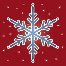 Free Red Background With  Snowflake. Stock Image - 27695381