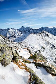 Mountains Landscape, Sunny Day In Tatras Stock Photos