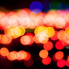 Free Magic Sparkle, Light Dots And Bokeh Effect Stock Images - 27696164