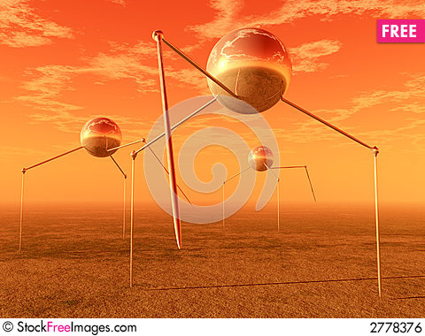 Free Alien Ball Tripods Royalty Free Stock Image - 2778376