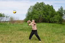 Volleyball Outdoor Royalty Free Stock Photo