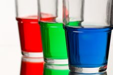 Free Red Green Blue Coloured Liquid Stock Photo - 2770780