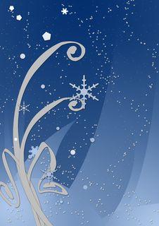 Free Winter Night - Blue Royalty Free Stock Photos - 2770938