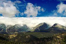 Winter Storm In Colorado Stock Photo